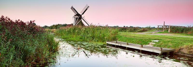 Vaarroute door de regio Oldambt in Oost-Groningen